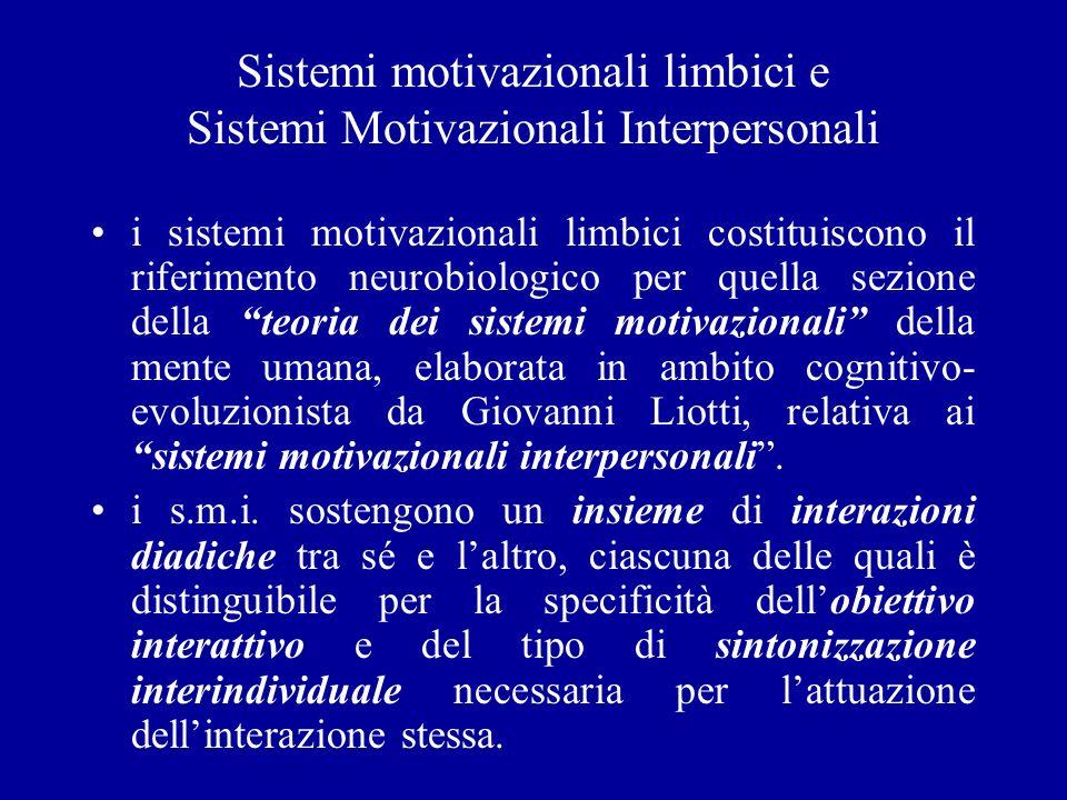 Sistemi motivazionali limbici e Sistemi Motivazionali Interpersonali