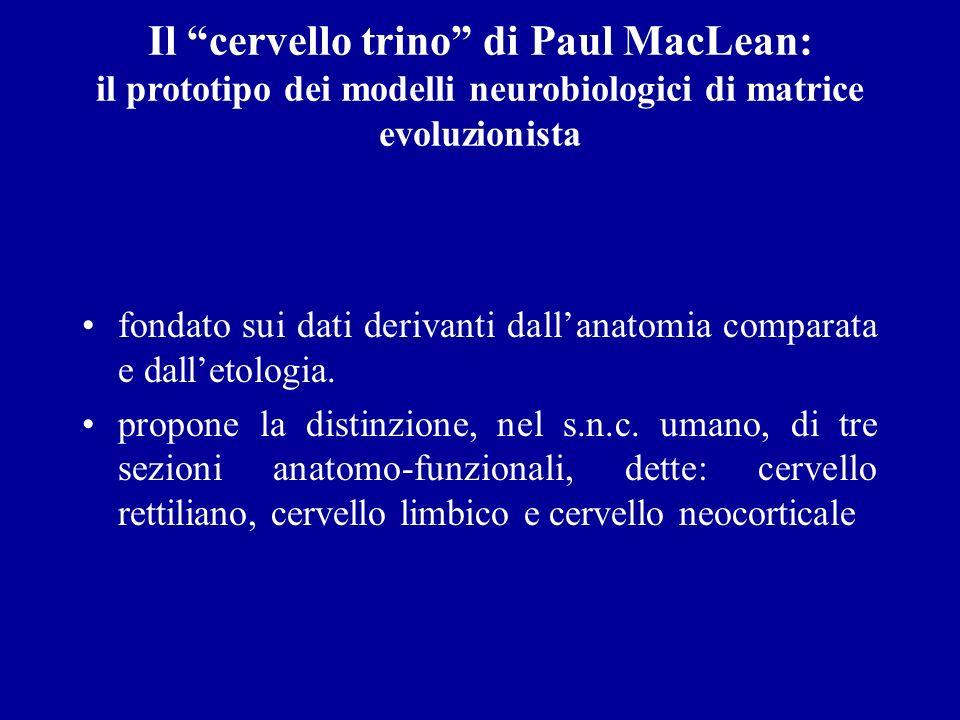 Il cervello trino di Paul MacLean: il prototipo dei modelli neurobiologici di matrice evoluzionista