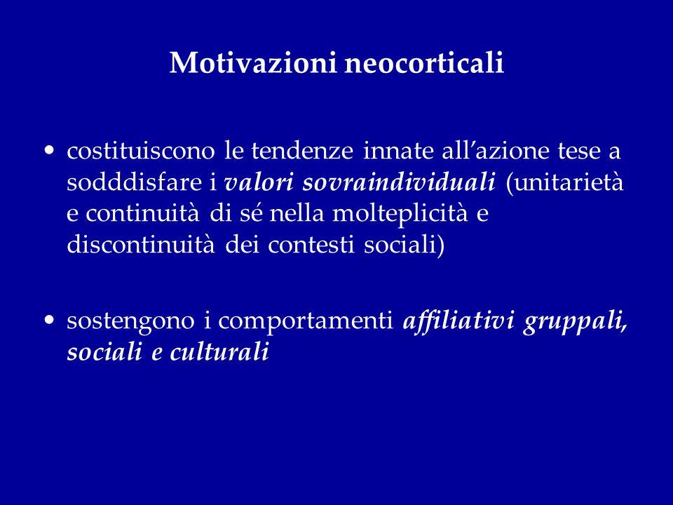 Motivazioni neocorticali
