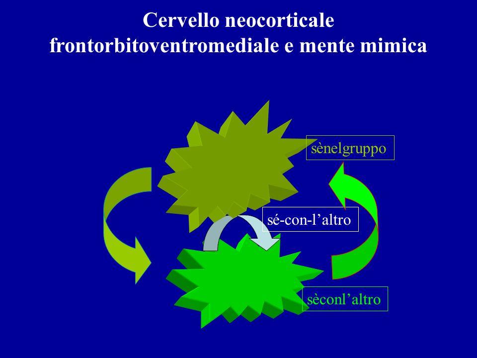 Cervello neocorticale frontorbitoventromediale e mente mimica