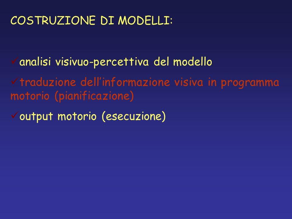 COSTRUZIONE DI MODELLI: