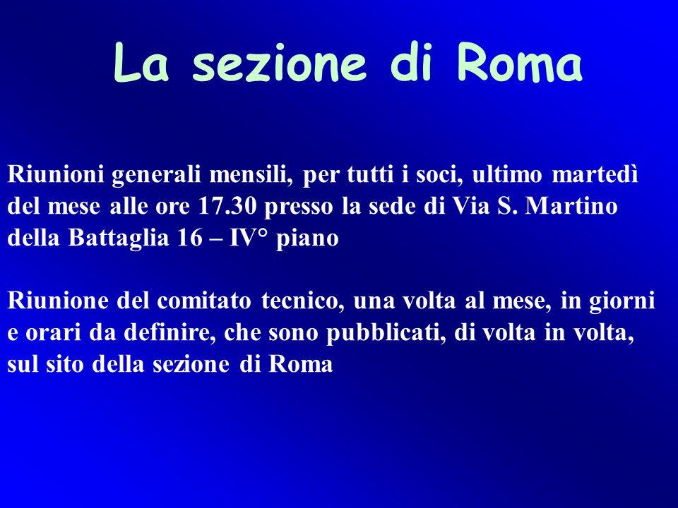 La sezione di Roma