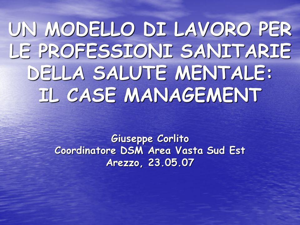 Giuseppe Corlito Coordinatore DSM Area Vasta Sud Est Arezzo, 23.05.07