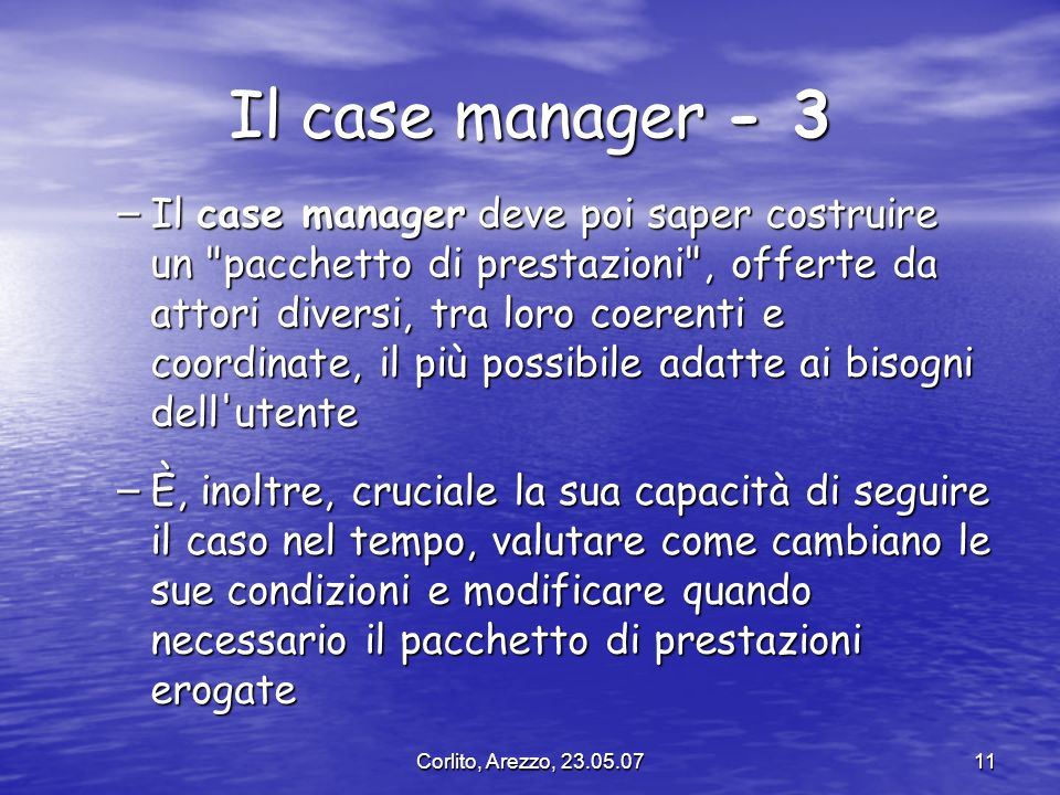 Il case manager - 3