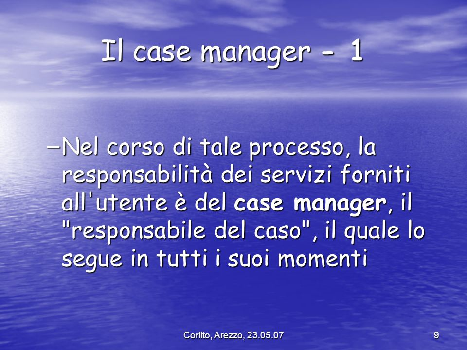 Il case manager - 1