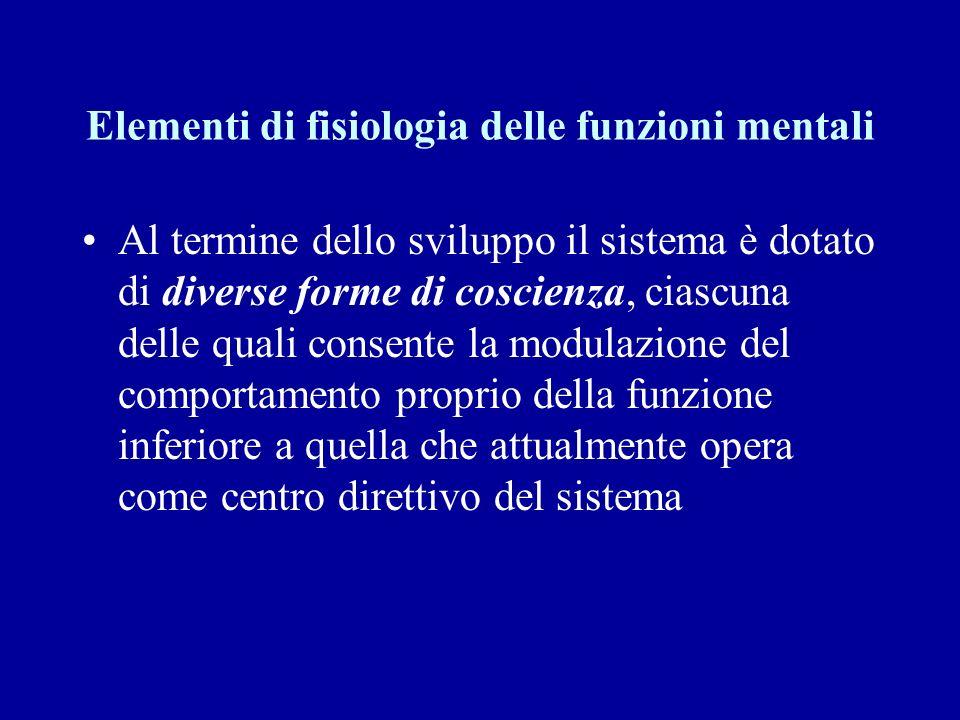 Elementi di fisiologia delle funzioni mentali