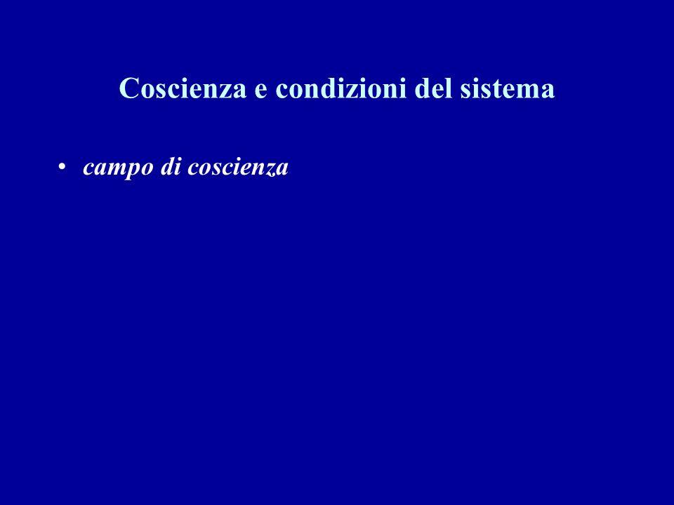 Coscienza e condizioni del sistema
