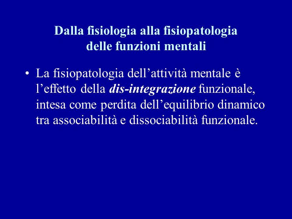 Dalla fisiologia alla fisiopatologia delle funzioni mentali