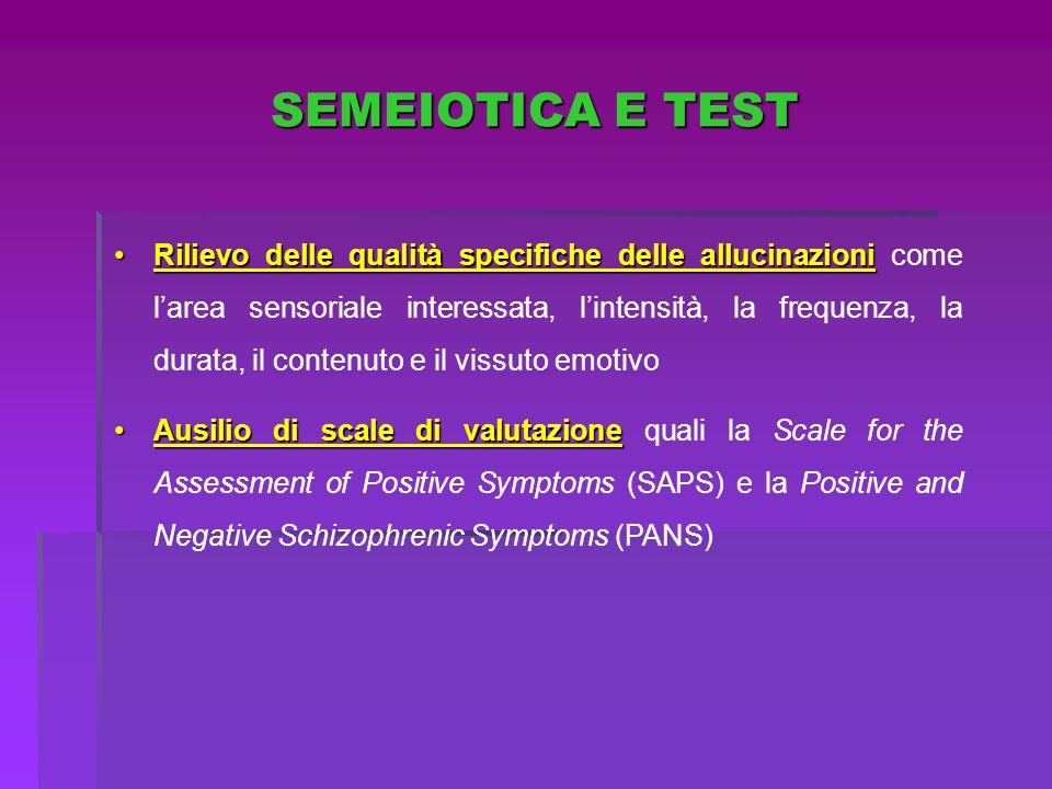 SEMEIOTICA E TEST