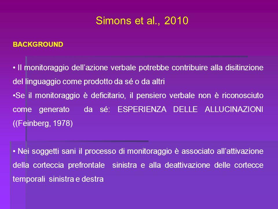 Simons et al., 2010 BACKGROUND.