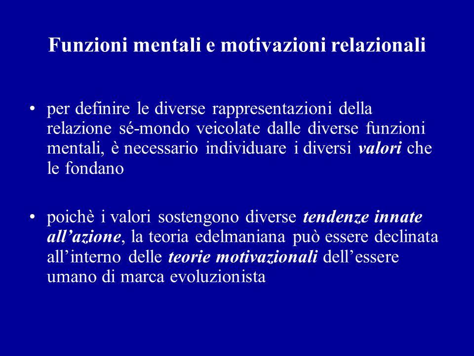 Funzioni mentali e motivazioni relazionali