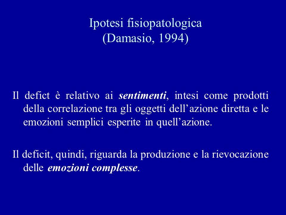 Ipotesi fisiopatologica (Damasio, 1994)