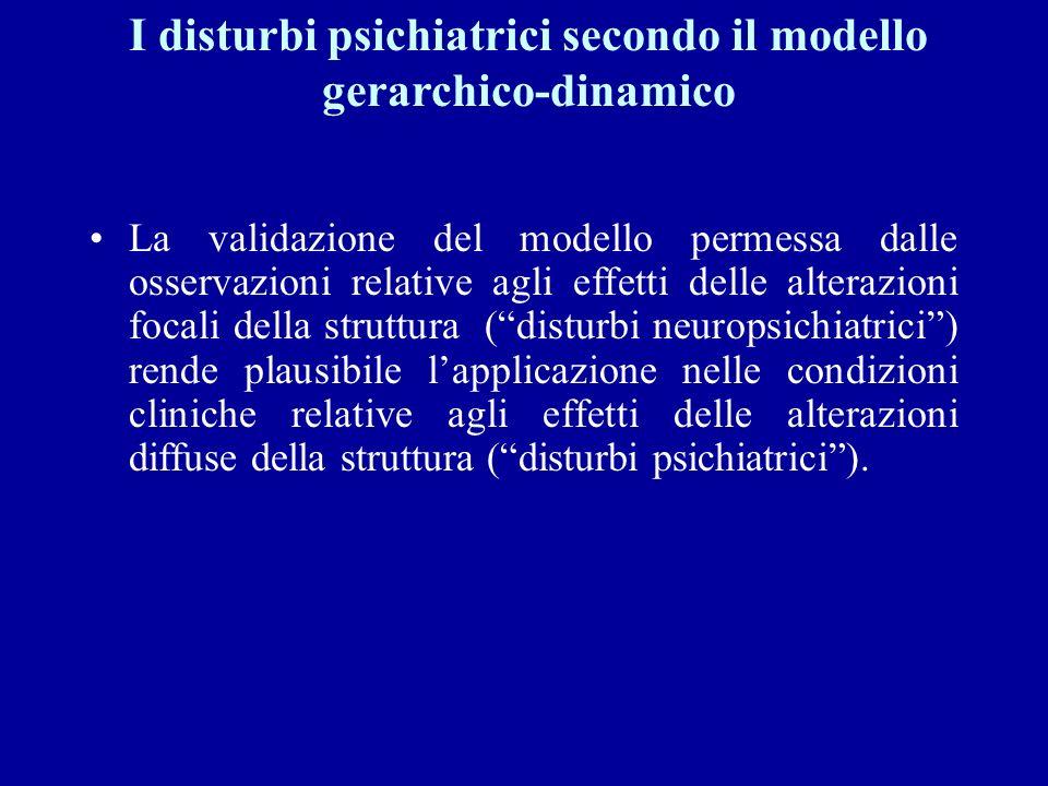 I disturbi psichiatrici secondo il modello gerarchico-dinamico