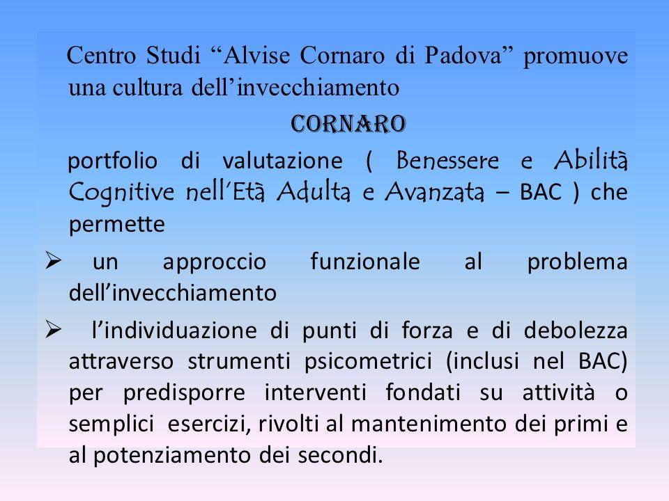 Centro Studi Alvise Cornaro di Padova promuove una cultura dell'invecchiamento