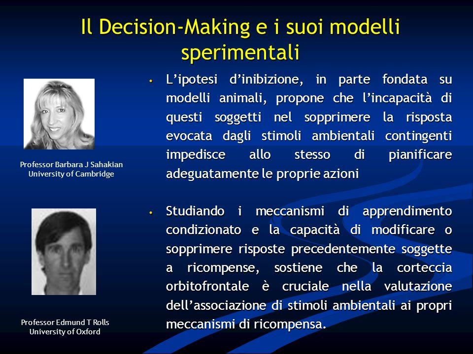 Il Decision-Making e i suoi modelli sperimentali