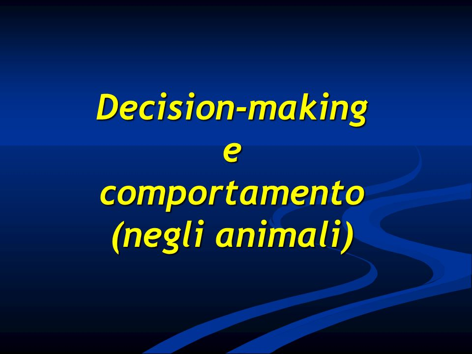 comportamento (negli animali)