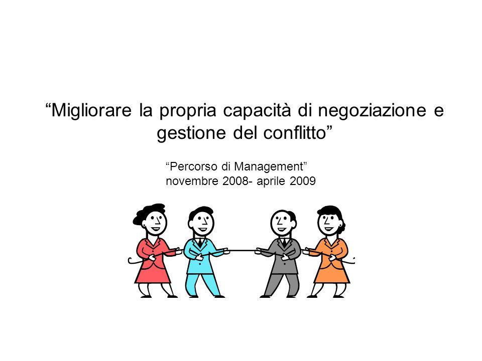 Migliorare la propria capacità di negoziazione e gestione del conflitto