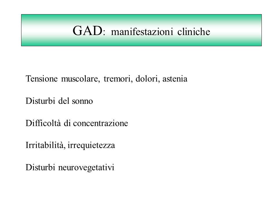 GAD: manifestazioni cliniche