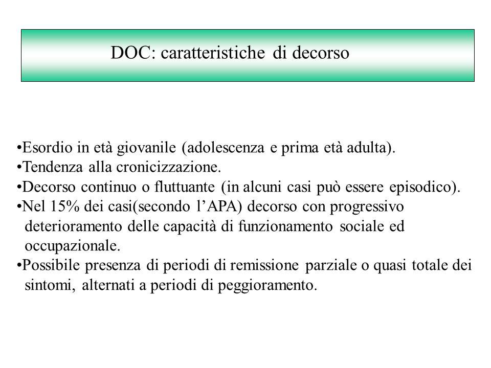 DOC: caratteristiche di decorso