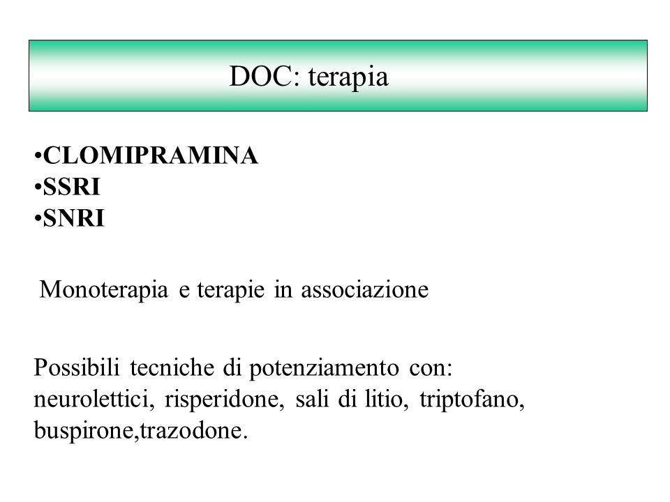 DOC: terapia CLOMIPRAMINA SSRI SNRI