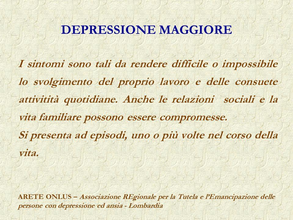 DEPRESSIONE MAGGIORE