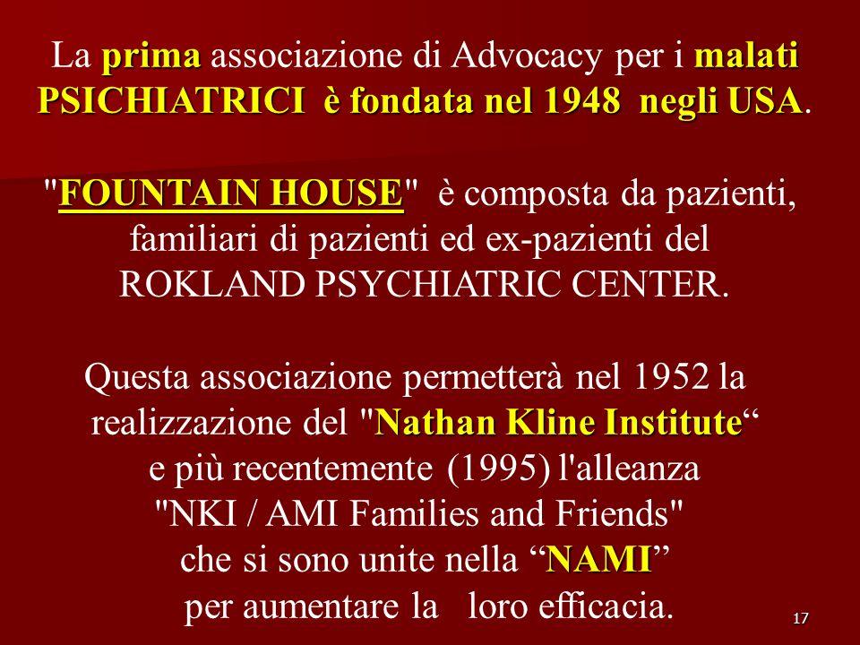La prima associazione di Advocacy per i malati