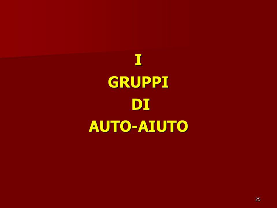 I GRUPPI DI AUTO-AIUTO