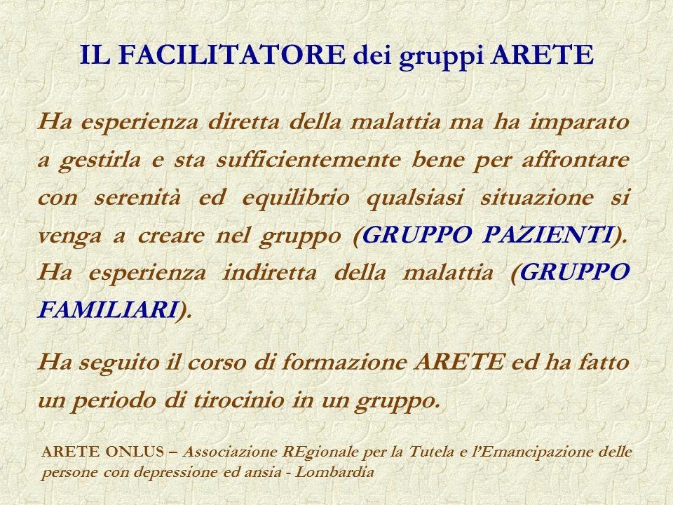 IL FACILITATORE dei gruppi ARETE