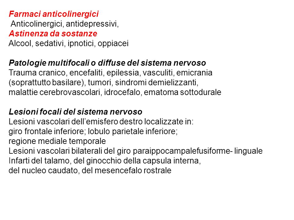 Farmaci anticolinergici