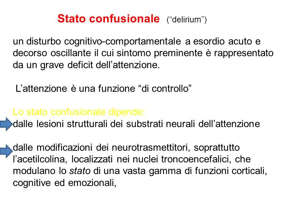 Stato confusionale ( delirium )