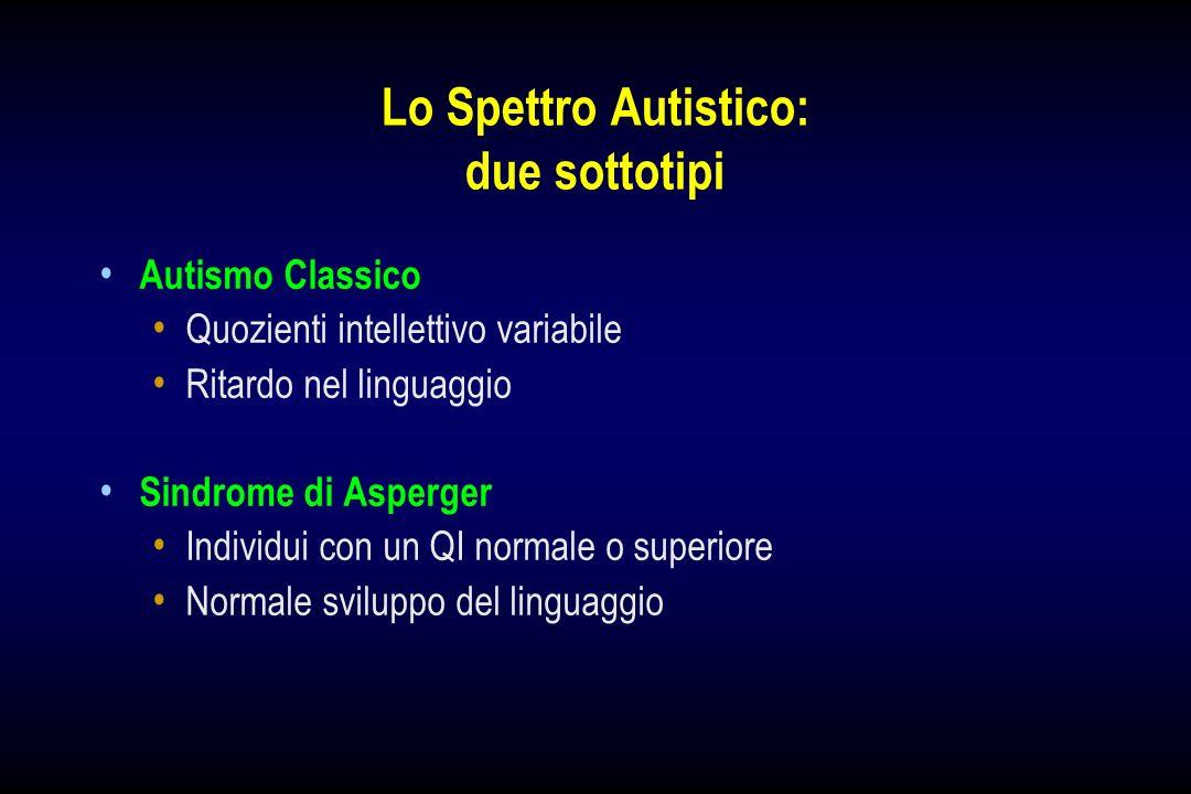 Lo Spettro Autistico: due sottotipi