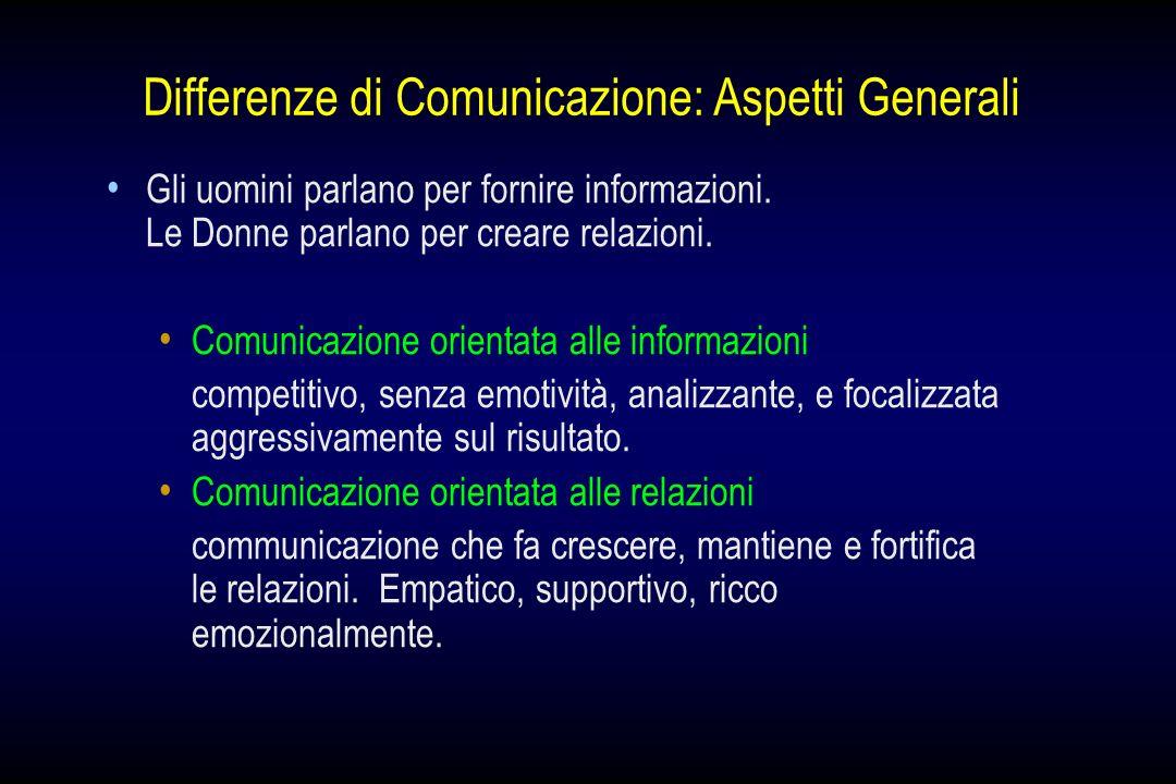 Differenze di Comunicazione: Aspetti Generali