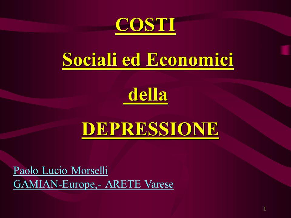 COSTI Sociali ed Economici della