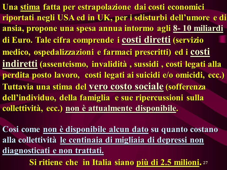 Si ritiene che in Italia siano più di 2.5 milioni.