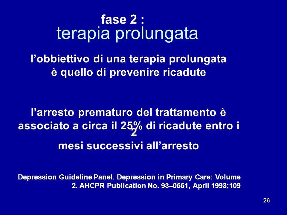 terapia prolungata fase 2 : l'obbiettivo di una terapia prolungata