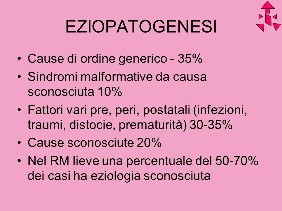 EZIOPATOGENESI Cause di ordine generico - 35%