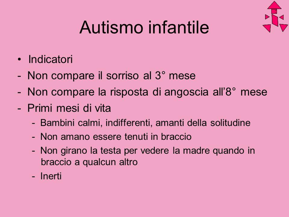 Autismo infantile Indicatori - Non compare il sorriso al 3° mese