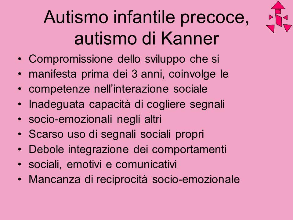 Autismo infantile precoce, autismo di Kanner