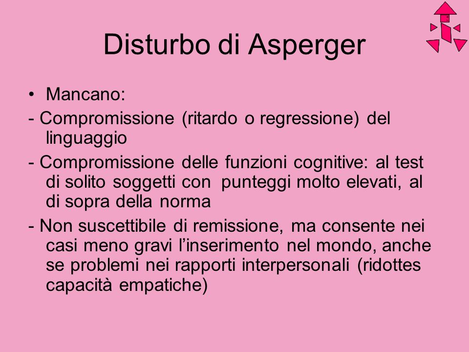Disturbo di Asperger Mancano: