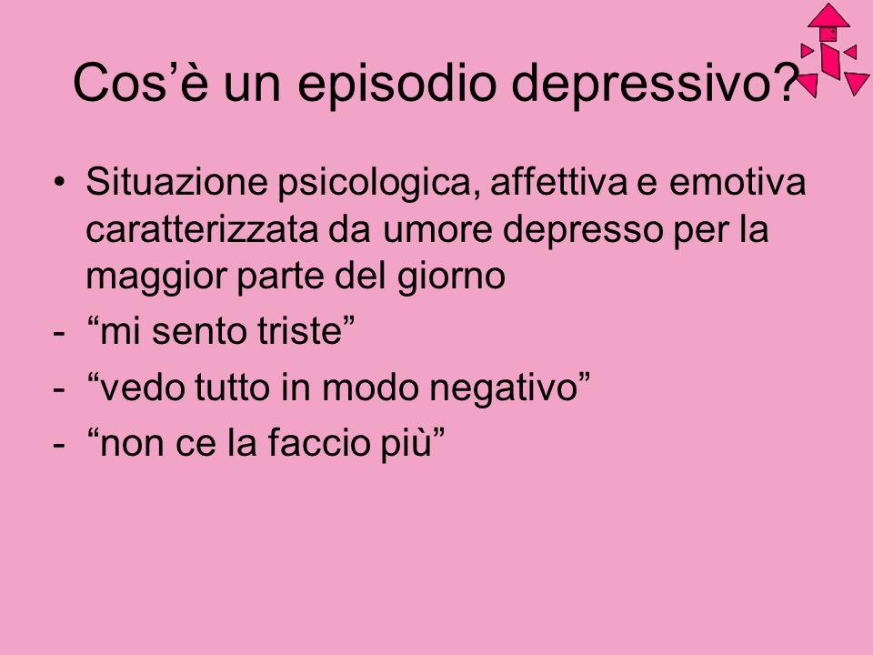 Cos'è un episodio depressivo