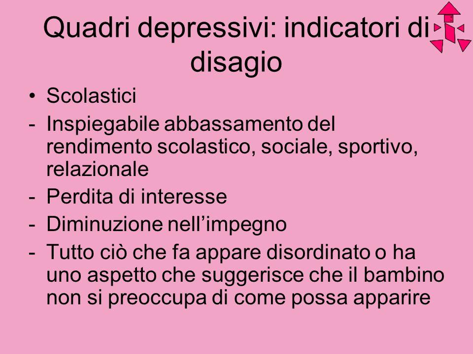 Quadri depressivi: indicatori di disagio