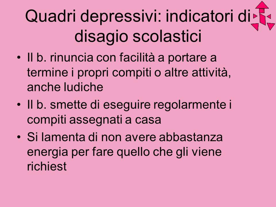 Quadri depressivi: indicatori di disagio scolastici