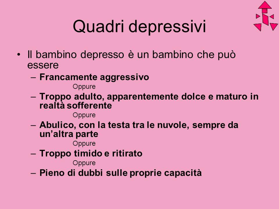 Quadri depressivi Il bambino depresso è un bambino che può essere