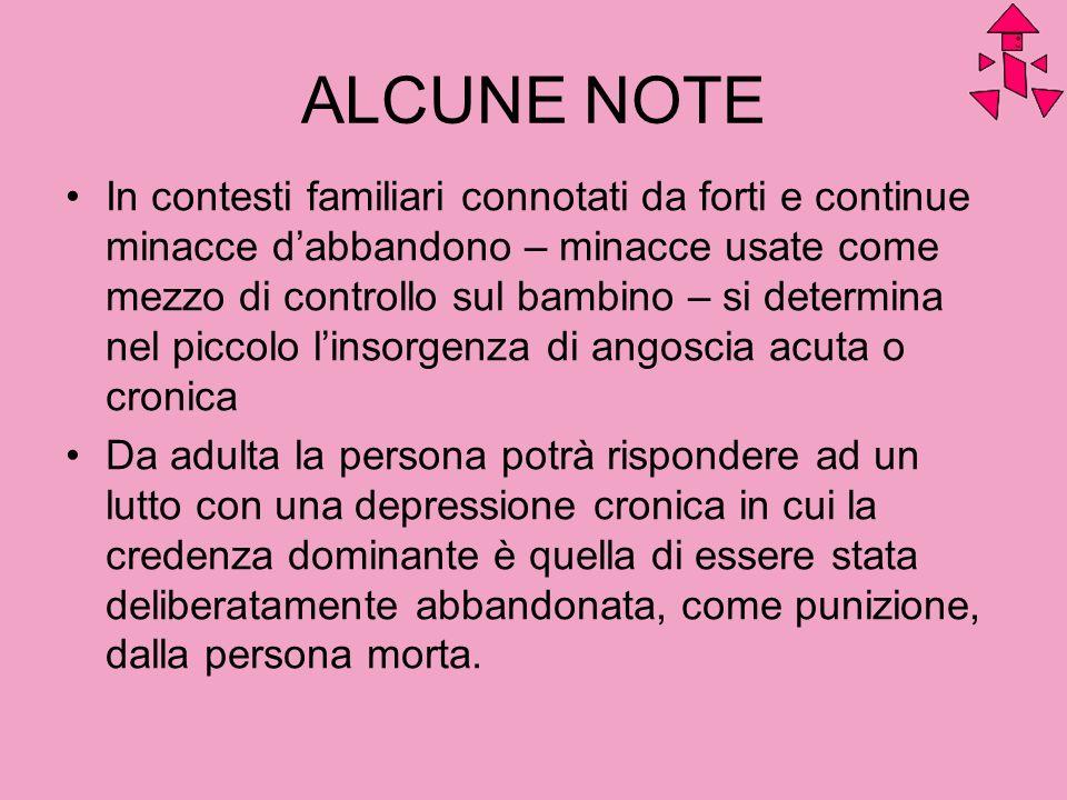 ALCUNE NOTE