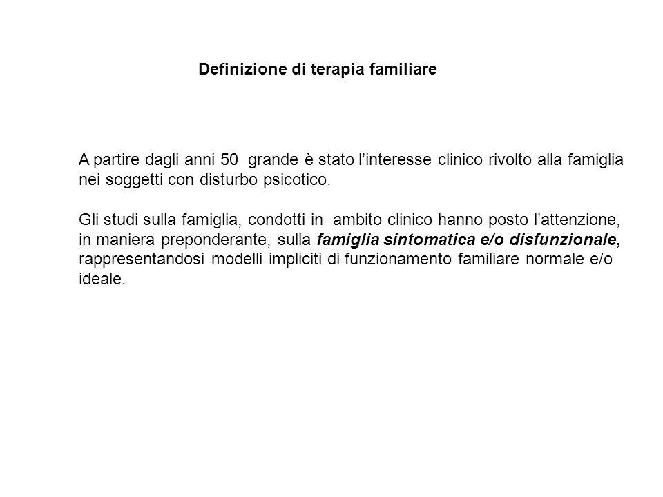 Definizione di terapia familiare