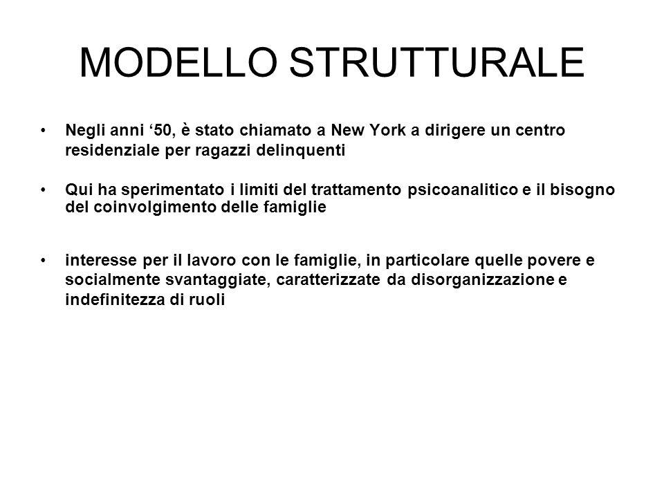 MODELLO STRUTTURALE Negli anni '50, è stato chiamato a New York a dirigere un centro residenziale per ragazzi delinquenti.