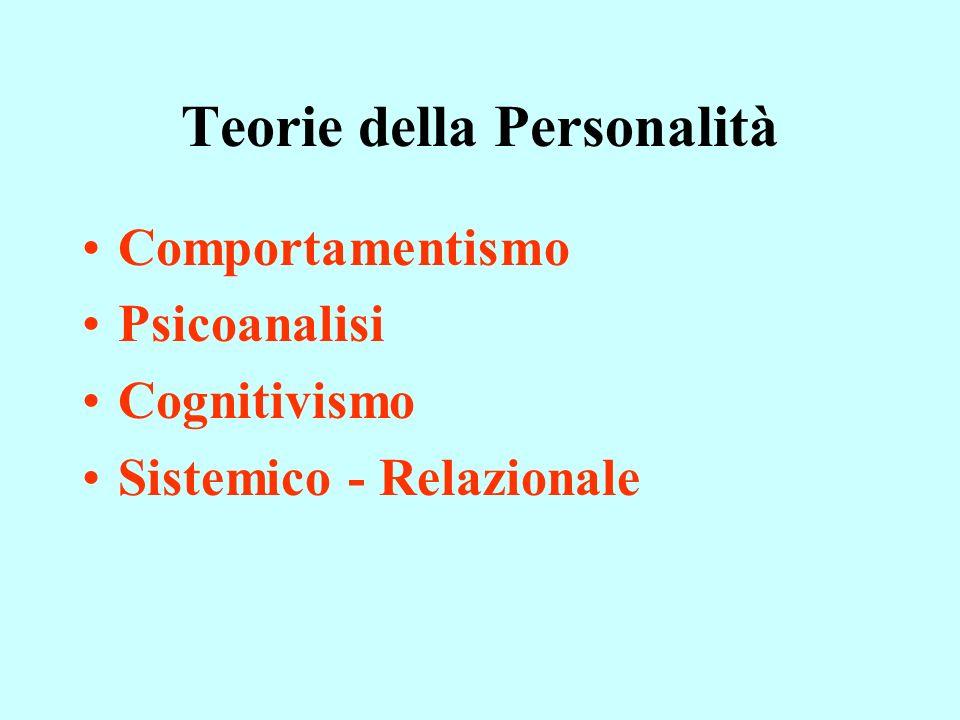 Teorie della Personalità