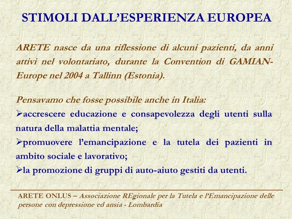 STIMOLI DALL'ESPERIENZA EUROPEA