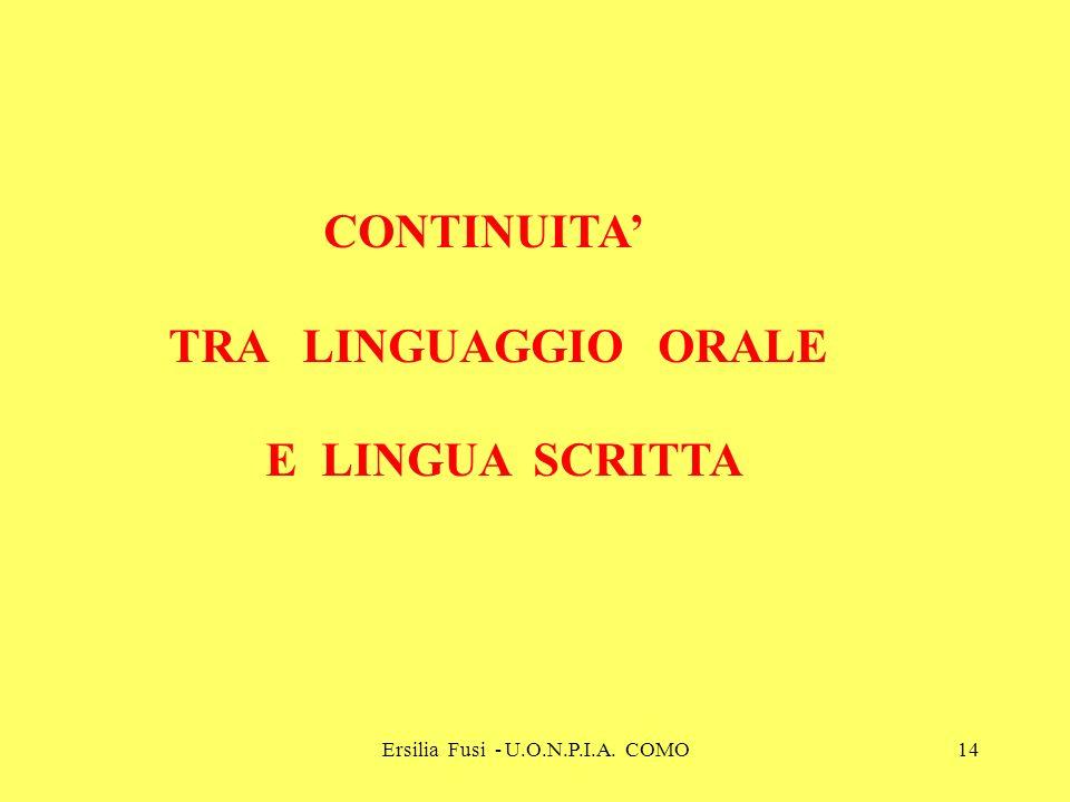 Ersilia Fusi - U.O.N.P.I.A. COMO