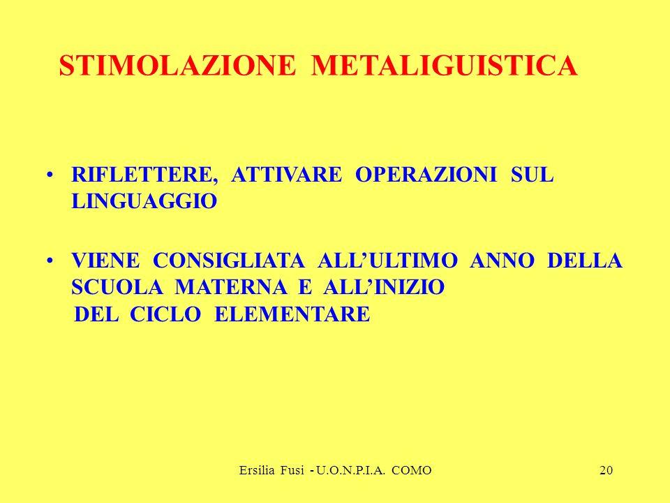 STIMOLAZIONE METALIGUISTICA